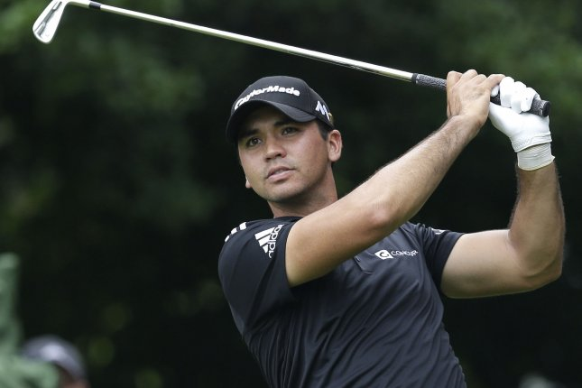 Jason Day of Australia hits his tee shot on the 2nd hole in the final round at the PGA Championship at Baltusrol Golf Club in Springfield, New Jersey on July 31, 2016. Photo by John Angelillo/UPI