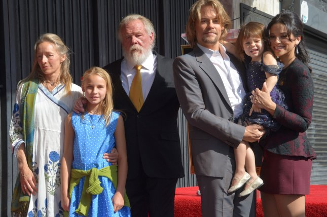 Actor Nick Nolte is joined by his wife Clytie Lane and their daughter Sophie Lane Nolte and his son Brawley Nolte, daughter-in-law Navi Rawat and granddaughter during an unveiling ceremony honoring him with the 2,623rd star on the Hollywood Walk of Fame in Los Angeles on Monday. Photo by Jim Ruymen/UPI