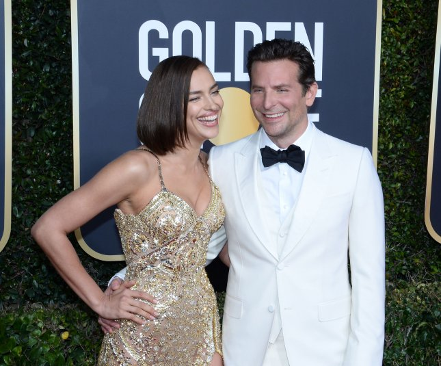 Bradley Cooper -- pictured here Sunday with Irina Shayk at the Golden Globes -- was nominated Tuesday for two Directors Guild of America Awards. Photo by Jim Ruymen/UPI