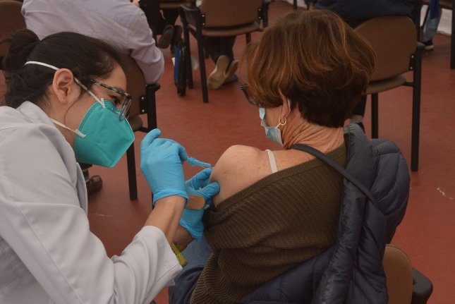 Many women globally are reluctant to receive the COVID-19 vaccine, a new study has found. File Photo by Jim Ruymen/UPI