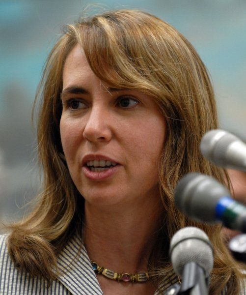 Rep. Gabrielle Giffords, D-AZ, seen in this June 21, 2007 file photo, was reportedly shot in the head during a public event in Tucson, Arizona on January 8, 2011. UPI/Roger L. Wollenberg/FILE