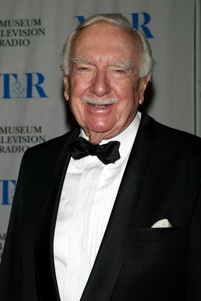 Journalist and CBS anchorman Walter Cronkite, seen in a May 26, 2005 file photo, died at the age of 92 in New York on July 17, 2009. (UPI Photo/Laura Cavanaugh/File)