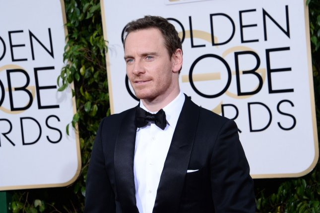 Michael Fassbender at the Golden Globe Awards on January 10. The actor will reprise David in Alien: Covenant. File Photo by Jim Ruymen/UPI