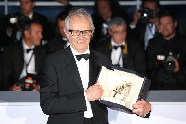 Ken Loach arrives at the award photo call after receiving the Palme d'Or prize for the film I, Daniel Blake during the 69th annual Cannes International Film Festival in Cannes, France on May 22, 2016. Photo by David Silpa/UPI