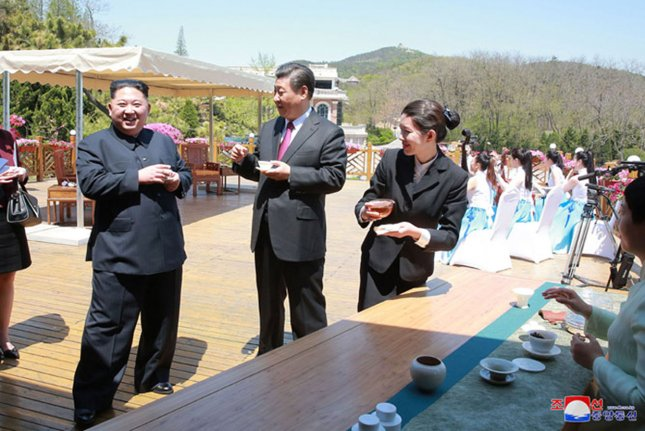 Top North Korean officials are in China this week following Kim's second summit with Chinese President Xi Jinping. Photo by KCNA/UPI