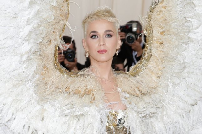 Katy Perry arrives on the red carpet at The Metropolitan Museum of Art's Costume Institute Benefit Heavenly Bodies: Fashion and the Catholic Imagination in New York City on May 7. The singer turns 34. File Photo by John Angelillo/UPI