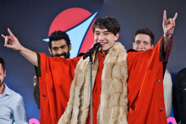 Actor Ezra Miller is writing a screenplay for the standalone Flash movie. File Photo by Keizo Mori/UPI