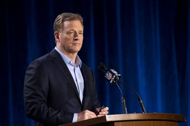 Last week, NFL commissioner Roger Goodell issued a statement and condemned racism after dozens of NFL players asked the league to do so. File Photo by Kevin Dietsch/UPI