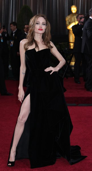 Angelina Jolie arrives for the 84th Academy Awards at the Hollywood and Highlands Center in Los Angeles on February 26, 2012. UPI/David Silpa