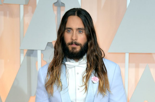 Jared Leto at the Academy Awards on February 22. The actor cut off his green Joker hair for 'Suicide Squad' after the movie finished filming this week. File photo by Kevin Dietsch/UPI