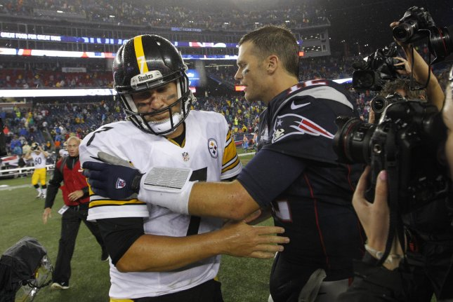 Tom Brady has always had big games against the Steelers, including five straight with a passer rating of 100 or better, with 19 touchdown passes and no interceptions. File Photo by Matthew Healey/UPI