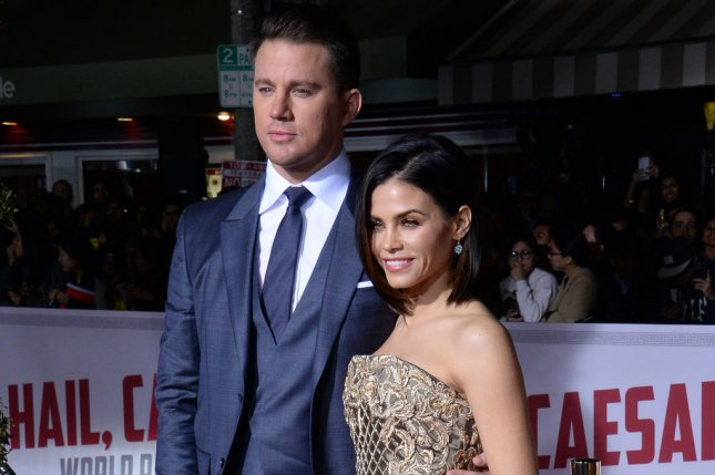 Channing Tatum (L) and Jenna Dewan said reports about the actor's supposed partying and flirting are untrue. File Photo by Jim Ruymen/UPI