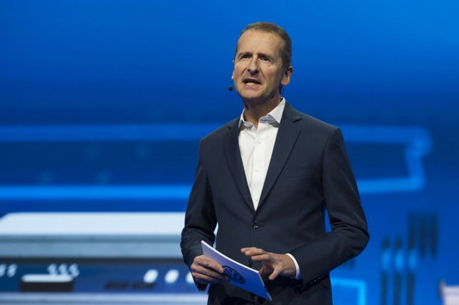 Herbert Diess was named as the new CEO of Volkswagen, taking over for Matthias Mueller. File Photo by Molly Riley/UPI