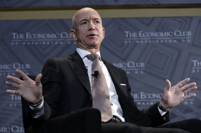 Amazon CEO and founder Jeff Bezos will likely announce the location for the company's second headquarters by the end of the year. Photo by Yuri Gripas/UPI