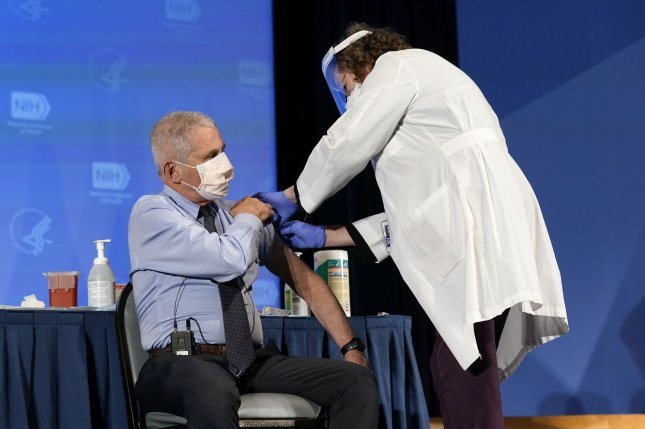 Dr. Fauci Gets COVID-19 Vaccine at NIH Kickoff Event