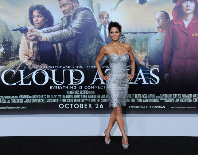 Actress Halle Berry, a cast member in the motion picture sci-fi drama Cloud Atlas, attends the premiere of the film at Grauman's Chinese Theatre in the Hollywood section of Los Angeles on October 24, 2012. UPI/Jim Ruymen