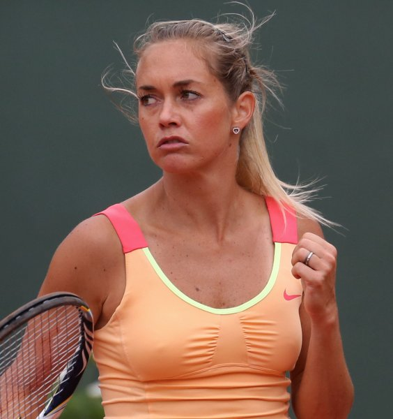 Klara Zakopalova, shown at the 2012 French Open, was among second-round winners Wednesday at the Collector Swedish Open. UPI/David Silpa
