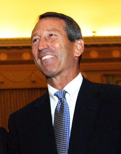 South Carolina Gov. Mark Sanford, seen in an October 29, 2008 file photo at a Committee on Ways and Means hearing on Capitol Hill in Washington, admitted to an extramarital affair on June 24, 2009, after he disappeared from South Carolina for a week, secretly traveling to Argentina with his mistress. (UPI Photo/Alexis C. Glenn/File)