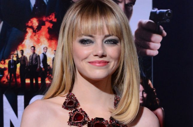 Emma Stone, a cast member in the motion picture crime drama Gangster Squad, attends the premiere of the film at Grauman's Chinese Theatre in the Hollywood section of Los Angeles on January 7, 2013. UPI/Jim Ruymen