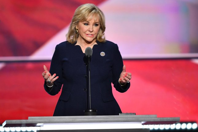 Oklahoma Gov. Mary Fallin speaks on the final day of the Republican National Convention at Quicken Loans Arena in Cleveland. She called on Republicans to unite behind Donald Trump over their shared values of economic prosperity and a strong military. Photo by Kevin Dietsch/UPI