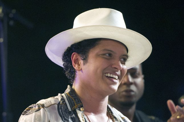 Bruno Mars attends the White House Independence Day celebration on July 4, 2015. The singer will appear on Carpool Karaoke on Late Late Night with James Corden. File Photo by Ron Sachs/UPI