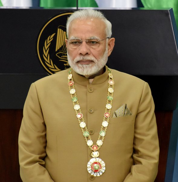 Indian Prime Minister Narendra Modi warned Pakistan that it will pay a hefty price for its involvement in the Julwama attack. Photo by Debbie Hill/UPI