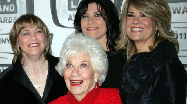The Facts of Life Cast: (L-R) Geri Jewel, Charlotte Rae, Nancy McKeon and Lisa Whelchel arrive for the TV Land Awards at the Jacob Javits Center in New York on April 10, 2011. UPI /Laura Cavanaugh