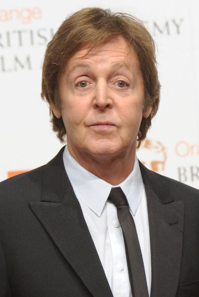 British musician Paul McCartney attends the press room at the Orange British Academy Film Awards at the Royal Opera House in London on February 13, 2011. UPI/Rune Hellestad
