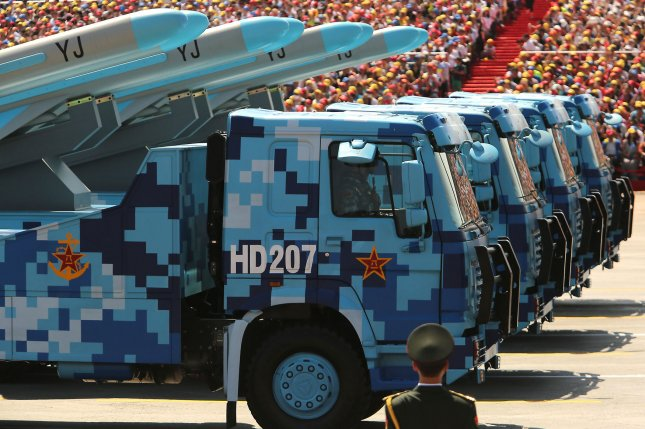 China is engaging in a large-scale military build-up along its border with India, according to Indian navy and air force sources. Photo by Stephen Shaver/UPI