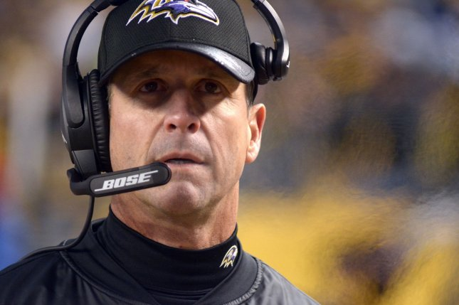 Coach John Harbaugh and the Baltimore Ravens are hoping to return to contention. Photo by Archie Carpenter/UPI