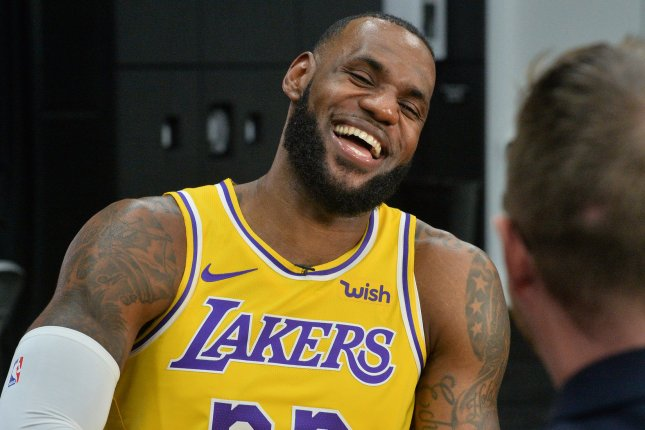 LeBron James and the Los Angeles Lakers face the unbeaten Denver Nuggets on  Thursday. Photo by Jim Ruymen UPI  76277b45e