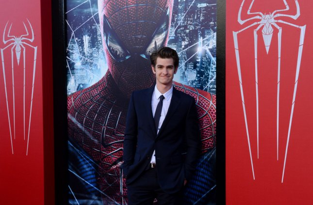 Actress Andrew Garfield, a cast member in the motion picture fantasy The Amazing Spider-Man, attends the premiere of the film at Regency Village Theatre in the Westwood section of Los Angeles on June 28, 2012. UPI/Jim Ruymen
