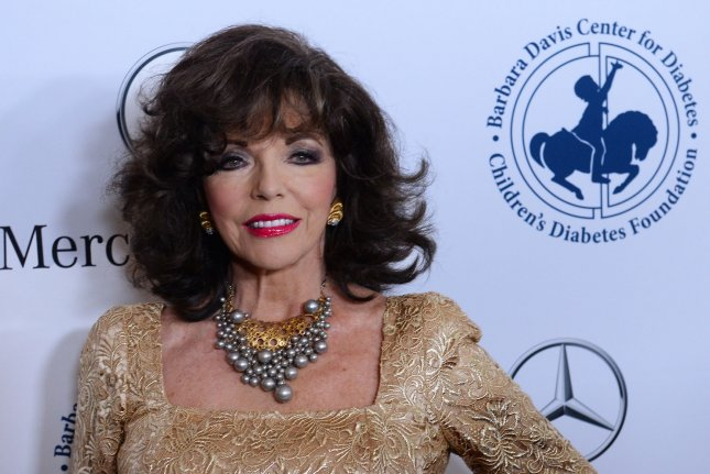 Joan Collins has revealed in a documentary that her ex-husband Maxwell Reed sexually assaulted her in the 1950s. UPI/Jim Ruymen/File