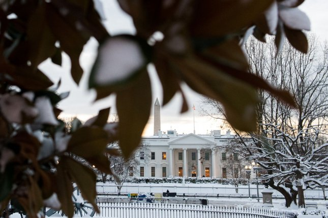 The White House is seen Monday after a snow storm hit the Washington, D.C. region. Photo by Kevin Dietsch/UPI