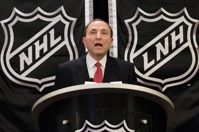 NHL commissioner Gary Bettman and the league plan to schedule a call between team owners this weekend to vote on the 56-game proposal. File Photo by John Angelillo/UPI