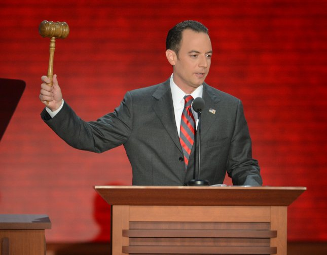 Chairman of the Republican National Committee Reince Priebus opens the session at the 2012 Republican National Convention at the Tampa Bay Times Forum in Tampa on August 29, 2012. UPI/Kevin Dietsch