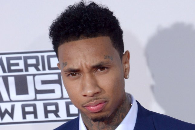 Tyga at the American Music Awards on November 22, 2015. The rapper is supporting Blac Chyna and Rob Kardashian's engagement. File Photo by Jim Ruymen/UPI