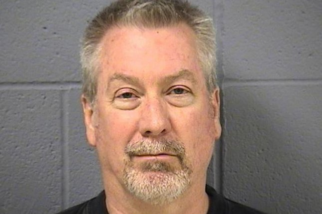Drew Peterson, a former Illinois police officer convicted in the 2004 death of his third wife, Kathleen Savio, was sentenced Friday to an additional 40 years in prison for attempting to hire at hit man to kill Will County prosecutor James Glasgow, the man who helped send him to prison for Savio's murder. The additional prison time assures that Peterson, now 62, will die in prison. Photo courtesy Will County Sheriff's Department/UPI