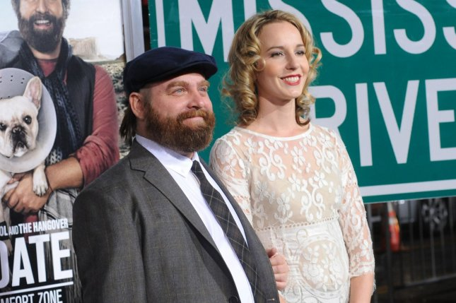 Zach Galifianakis L And Quinn Lundberg At The Los Angeles Premiere Of Due Date In 2010 File Photo By Jim Ruymen Upi License