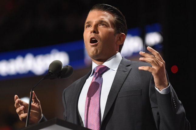 Donald Trump Jr. on Sunday confirmed he met with a Russian lawyer in June 2016 in Trump Tower but said his father was not aware of the meeting. File Photo by Mike Theiler/UPI