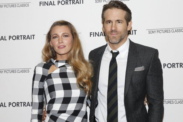 Blake Lively and Ryan Reynolds arrive on the red carpet at the Final Portrait New York screening on March 22. File Photo by John Angelillo/UPI