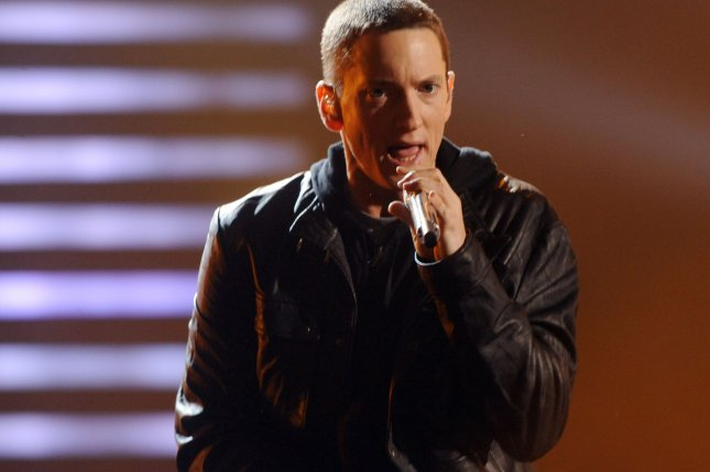 Eminem will give a remote performance Monday that will air on Jimmy Kimmel Live! File Photo by Jim Ruymen/UPI