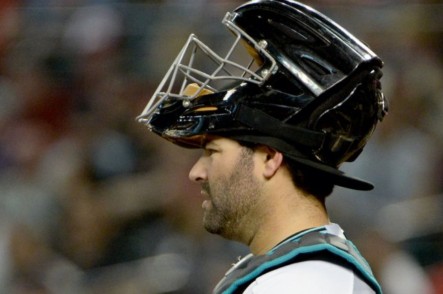 Arizona Diamondbacks' catcher Alex Avila has been placed on the injury list after injuring his quad while running around the bases after a home run Saturday in a win over the Boston Red Sox. Photo by Art Foxall/UPI
