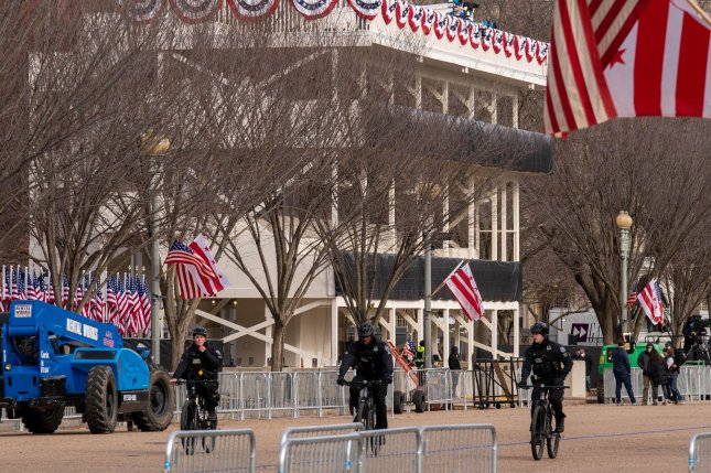 Security in Washington, D.C., has tightened in advance of the inauguration of President-elect Joe Biden with the National Park Service restricting assess to the National Mall. Photo by Ken Cedeno/UPI