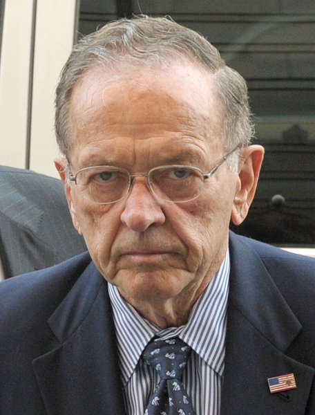Sen. Ted Stevens, R-AK, arrives at federal court for jury selection for the trial of U.S. v. Stevens in Washington on September 22, 2008. Sen. Stevens was indicted on July 29 on seven counts of making false statements on his Senate financial disclosure forms by failing to disclose more than $250, 000 worth of gifts and services that he received while serving in the Senate. (UPI Photo/Roger L. Wollenberg)