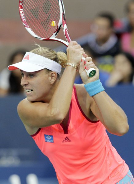 Angelique Kerber, shown in a 2011 file photo, upset No. 1-seeded Maria Sharapova in Friday's quarterfinal play at the GDF Suez Open tennis tournament in Paris. UPI/John Angelillo
