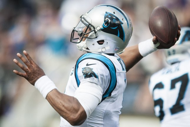 The Carolina Panthers and quarterback Cam Newton held off the Philadelphia Eagles to run their NFC South best record to 6-0. File photo Pete Marovich/UPI