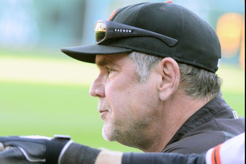 San Francisco Giants manager Bruce Bochy (15). Photo by Archie Carpenter/UPI