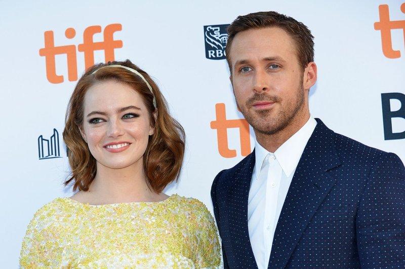 ae4880affaf19 Emma Stone (L) and Ryan Gosling arrive at the Toronto International Film  Festival premiere of