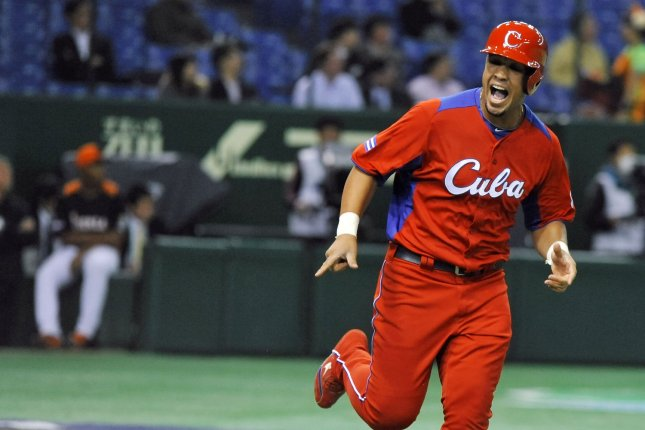 For Cuban baseball players to play in MLB, they first must defect to another country like Mexico or the Dominican Republic, a process that can be dangerous. File Photo by Keizo Mori/UPI